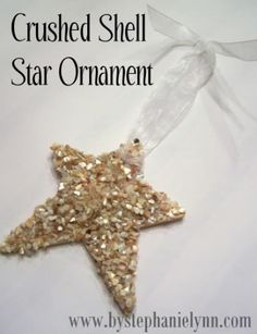 Under The Table and Dreaming: Crushed Shell Star Ornament {No.4}