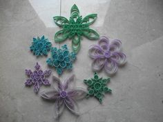 Quilled Snowflakes by disrhythmic.deviantart.com on @deviantART