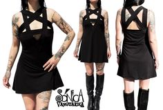Pentagrama Vestido black dress