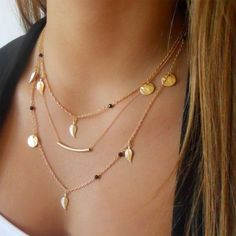 5e40be81f TRAVELING SEASONS NECKLACE The Traveling Seasons Necklace. This delicate  layered necklace is perfect for any