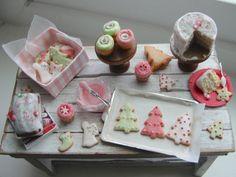 Dollhouse miniature Holiday baking