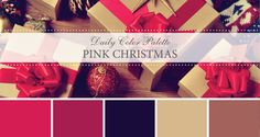 Daily Color Palette: Pink Christmas. Not all Christmas Color Palettes have to be red and green! - Life Rooted in Design
