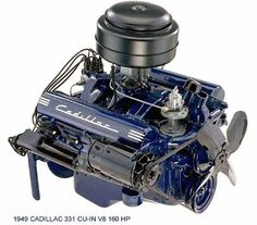 1949 Cadillac 331 C I V8 160 HP Engine