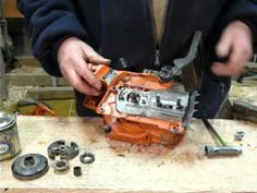 In this video Mark shows you how to maintain and tune your chainsaw. He outlines proper cleaning techniques and also shows how to change the spark plug, air . Chainsaw Repair, Chainsaw Mill, Chainsaw Parts, Lawn Mower Repair, Leak Repair, Yard Tools, Pergola Pictures, Lawn Equipment, Engine Repair