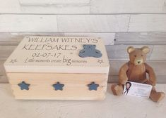 Check out our baby boy selection for the very best in unique or custom, handmade pieces from our shops. Personalised Memory Box, Wooden Memory Box, Personalized Baby Gifts, Baby Memory Boxes, Wooden Boxes, Baby Girl Gifts, New Baby Gifts, Boy Box, Baby Memories