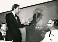Heart surgeon and transplant pioneer Dr Christiaan Barnard illustrates a point after he had performed the first successful heart transplant operation, Cape Town, South Africa, 1967.