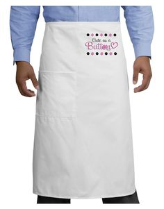 TooLoud Cute As A Button Adult Bistro Apron