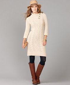 Tommy Hilfiger Dress, Ashley Long Sleeve Cable Knit Sweater Dress