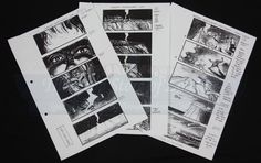 Collection of Production Used Storyboards - Achilles Contemplates War