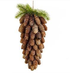 PineCone Cluster Christmas Holidays, Christmas Crafts, Christmas Decorations, Holiday Decor, Pine Cone Crafts, Pine Cones, Plant Hanger, Cactus Plants, Advent