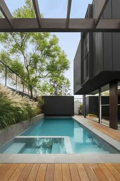 Stock Tank Swimming Pool Ideas, Get Swimming pool designs featuring new swimming pool ideas like glass wall swimming pools, infinity swimming pools, indoor pools and Mid Century Modern Pools. Find and save ideas about Swimming pool designs. Small Swimming Pools, Small Pools, Outdoor Swimming Pool, Swimming Pool Designs, Lap Pools, Small Pool Ideas, Swimming Pool House, Indoor Outdoor Pools, Pool And Deck Ideas