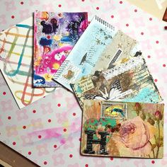 """Laura (@lauralh05) posted: """"The beautiful postcards I've received so far for @ihannas #diypostcardswap Each one has such pretty details"""" #mail #art"""