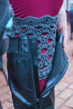 Shell Lace Boot Cuffs - free crochet pattern