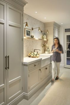 old room makeover The utility room- HarpersBAZAARUK Laundry Room Design, Kitchen Design, Utility Room Designs, Laundry Room Remodel, Old Room, Kitchen Interior, Home Kitchens, New Homes, House Design