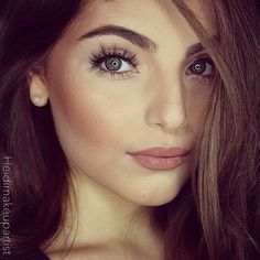 .Gorgeous natural look with killer lashes