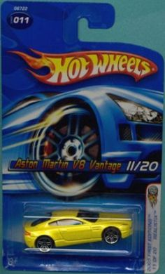 Santas Tools and Toys Workshop: Toy: Mattel Hot Wheels 2005 First Editions 1:64 Scale Yellow Aston Martin V8 Vantage Die Cast Car #011