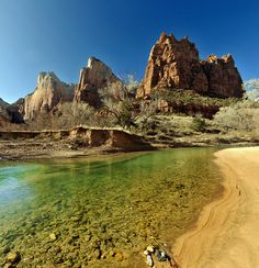 Zion National Park, Three Patriarchs