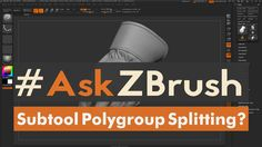 "#AskZBrush: ""How can I extract a single polygroup from a subdivided subt..."