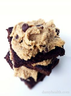 Quinoa Brownies with Cookie Dough Frosting | Amy Layne Paradigm Blog
