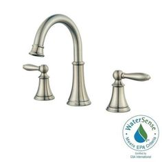Pfister Courant 8 in. Widespread 2-Handle Bathroom Faucet in Brushed Nickel-LF-049-COKK - The Home Depot