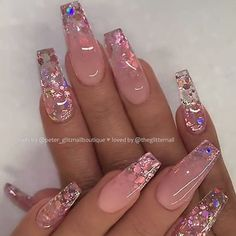 Top Awesome Coffin Nails Design 2019 You Must Try - Coffin Nails . - Nageldesign top awesome coffin nails design 2019 you have to try – coffin nails – to # Nails - Aycrlic Nails, Glam Nails, Nails Inc, Bling Nails, Stiletto Nails, Bling Bling, Summer Acrylic Nails, Best Acrylic Nails, Pastel Nails