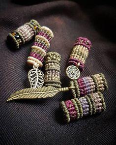Dreadlock Beads, Dread Beads, Macrame Thread, Dread Accessories, Dread Jewelry, Micro Macramé, Macrame Patterns, Brass Pendant, Yarn Colors