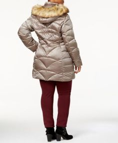 d7635d45698 Jones New York Plus Size Faux-Fur-Tim Down Puffer Coat   Reviews - Coats -  Women - Macy s