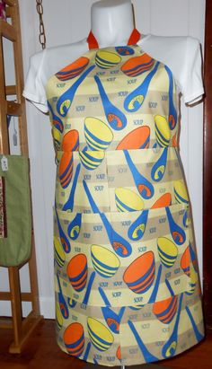 Soup Apron, Upcycled Apron, T towel apron, by beckyspillowshop on Etsy