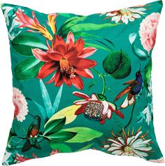 H&M - Patterned Cushion Cover - Teal