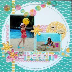 Beach - Summer Beach Scrapbook Layout by Jayne