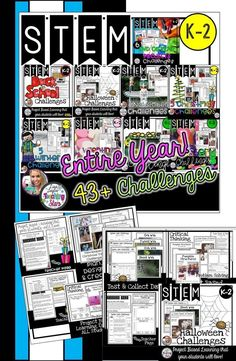 End of the Year STEM and  STEM for the Entire Year is bundle that has 43 Challenges, experiments, and activities your students will love all yearlong in your classroom! These activities can also be used for STEAM Activities, STEM After School Programs, Summer Programs, Clubs, Maker Spaces, or at home. You will save money and your students will be engaged in yearlong STEM Activities. Your students will love going through the design process as they cover the Next Generation Science.