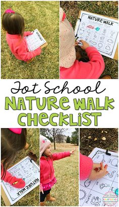 Use this nature walk checklist for your little nature lover. Perfect idea for tot school, preschool, or the kindergarten classroom.