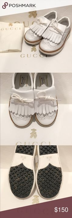 Gucci Toddler/Children Unisex Leather Golf Loafers These shoes belong to my daughter that she no longer fits into. These leather loafers are in great condition! It can be for girls and boys! It comes with original box, and dust bag. Shoes were purchased at the store for $355+ and are guaranteed to be authentic Gucci Shoes Dress Shoes