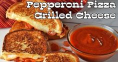 Happy National Grilled Cheese Day! Celebrate with this Pepperoni Pizza Grilled Cheese from My Fearless Kitchen! #INAgPromo