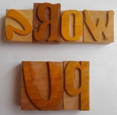 Nicely Hand Craft Letterpress Grow Up Wood Type Printers Block typography