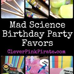 OMG NERD ALERT!!! LOVE this birthday party idea and goodie bags!!! Mad Science Birthday Party {Mad Scientist Birthday Party}