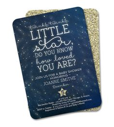 Twinkle Twinkle Baby Shower Invitation by SunshinePrintables