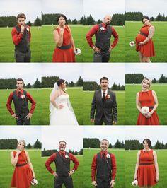 Fall themed bridal party shoot