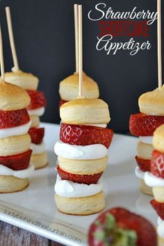 Strawberry Shortcake Appetizer - these are darling!