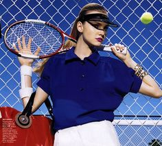 """She's Got Game"": Caroline Trentini by Miles Aldridge for US Vogue"