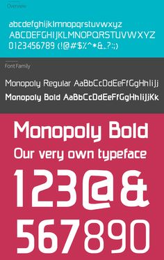 Monopoly Font Letters and Numbers