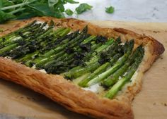 Savoury Asparagus Tart with Goat Cheese & Gruyere