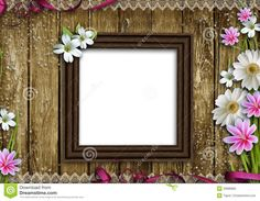 Wooden Photo Frame With Flowers - Download From Over 29 Million High Quality Stock Photos, Images, Vectors. Sign up for FREE today. Image: 20886885