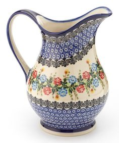 Durable, beautiful and functional, this heirloom-quality pitcher is handmade and hand-painted in Poland with traditional designs, so it's guaranteed to be stunningly unique. It's perfect for lemon water or sweet tea, and the slick glaze ensures easy cleanup.