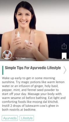 Simple Tips For Ayurvedic Lifestyle - via @CureJoy