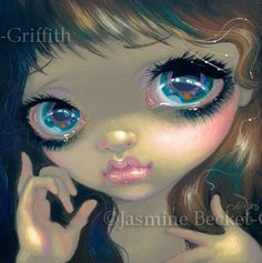 Faces of Faery 158 sign language hands big eye by Jasmine Becket-Griffith