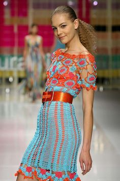 Laura Biagiotti: Crochet Dress, Spring Summer 2006, with full pattern