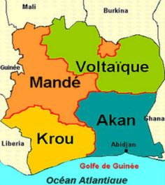 Ivory Coast Map (Vector EPS, CS, Abidjan, administrative, africa ...