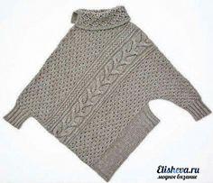 Vogue KnittinG Tutorial for Crochet, Knitting, Crafts. Vogue Knitting, Knitting Yarn, Hand Knitting, Poncho Cape, Poncho Sweater, Knitting Patterns, Crochet Patterns, Knit Fashion, Pulls