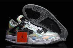 "http://www.jordanabc.com/air-jordans-4-retro-prism-metallic-silver-blackwhite-for-sale.html AIR JORDANS 4 RETRO ""PRISM"" METALLIC SILVER/BLACK-WHITE FOR SALE Only $90.00 , Free Shipping!"